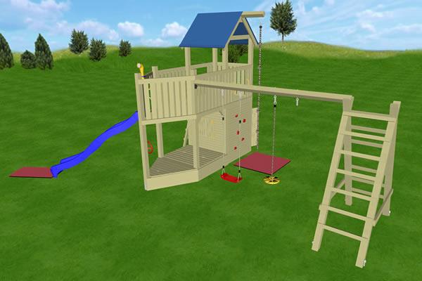 Spielturm Sitting Bull, Variante 04