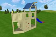 Spielturm Sitting Bull, Variante 01