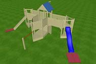 Spielturm Sitting Bull, Variante 05