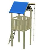 Spielturm 118x118x350cm