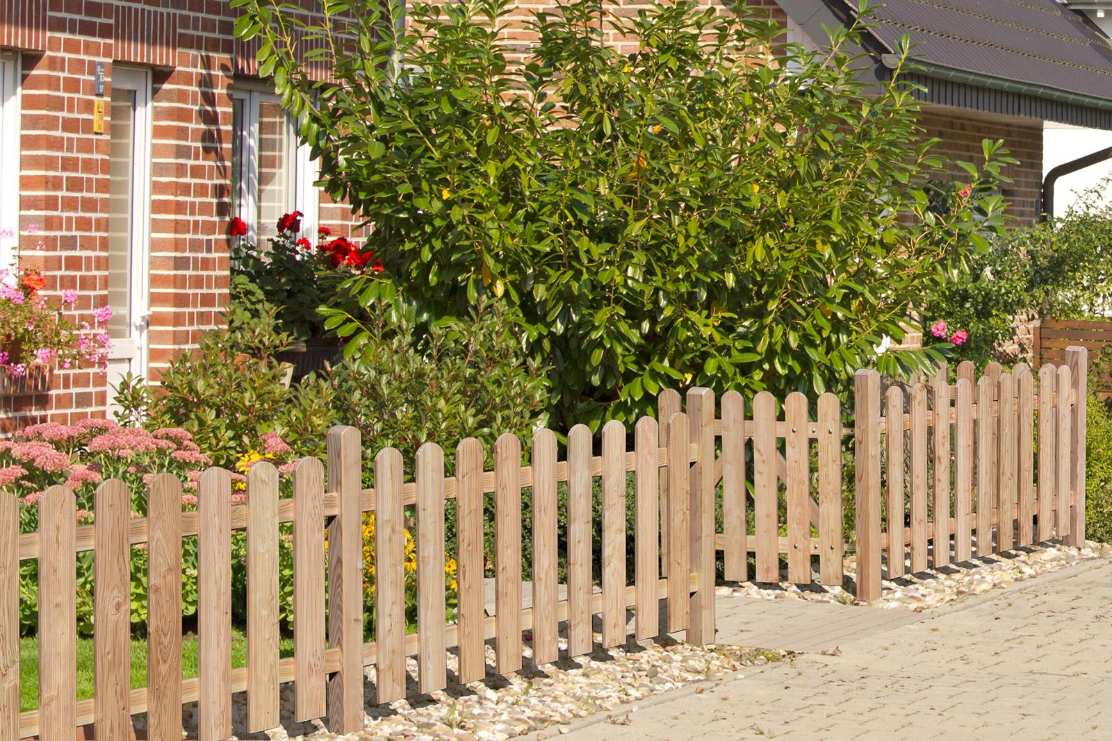 Delta Gartenholz Vorgartenzaun Lärche