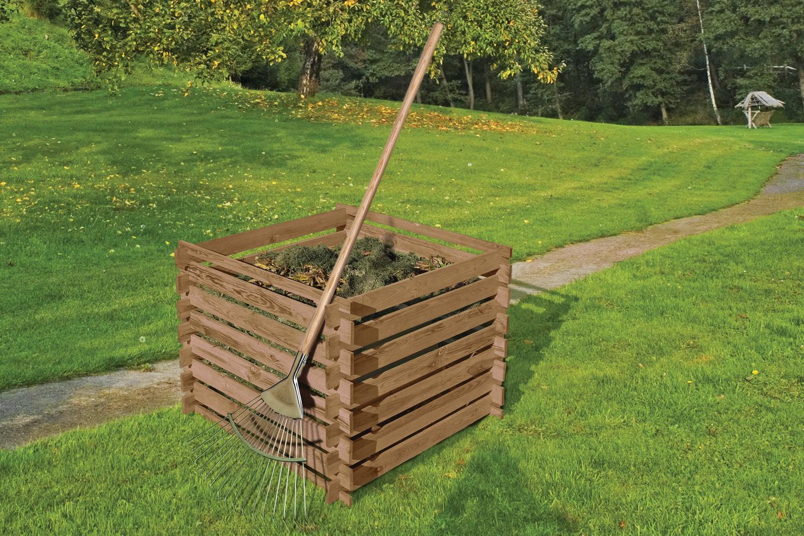 Delta Gartenholz Komposter 90 X 90 X 70 Cm