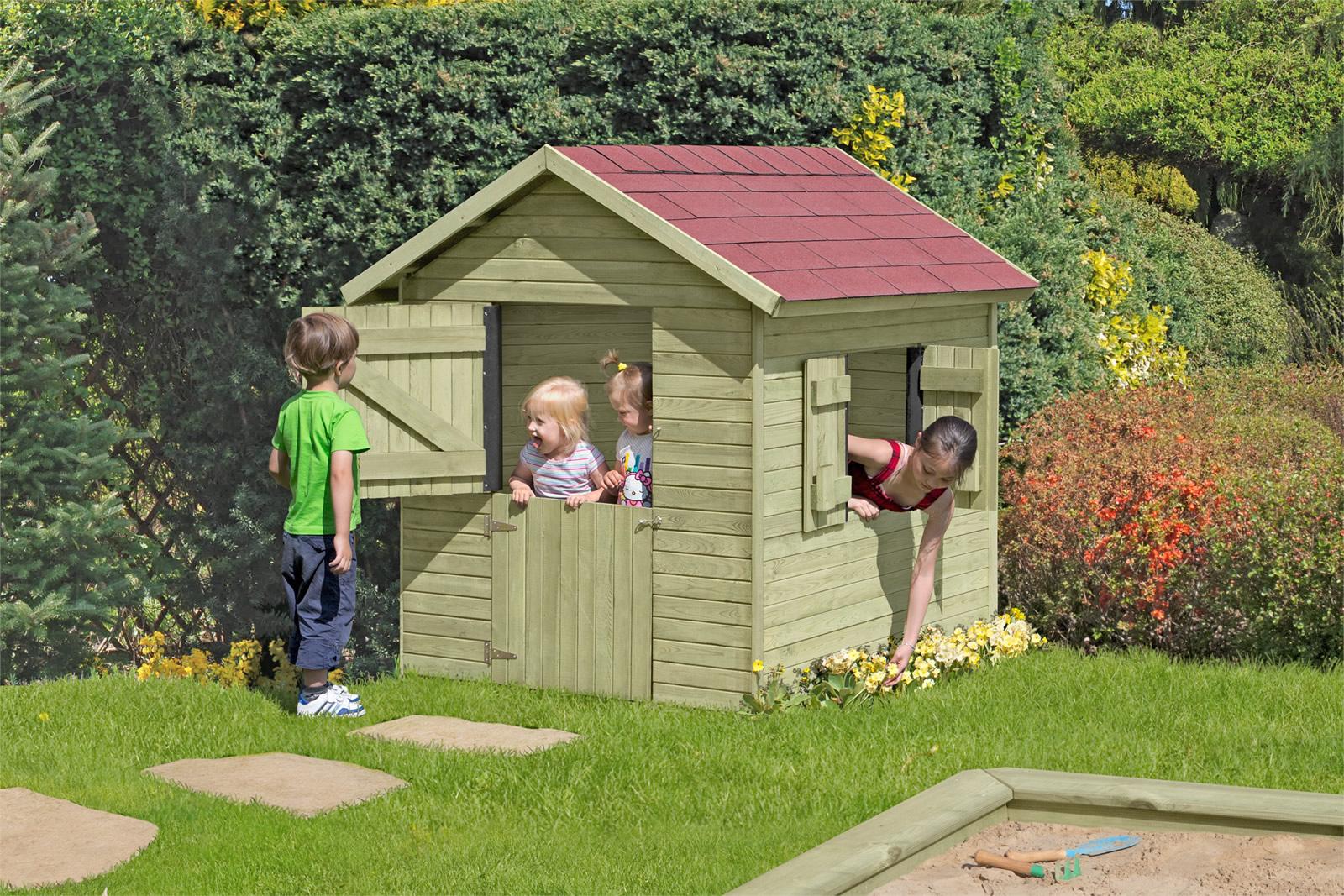 spielhaus garten holz cheap kinder spielhuser aus holz fr. Black Bedroom Furniture Sets. Home Design Ideas