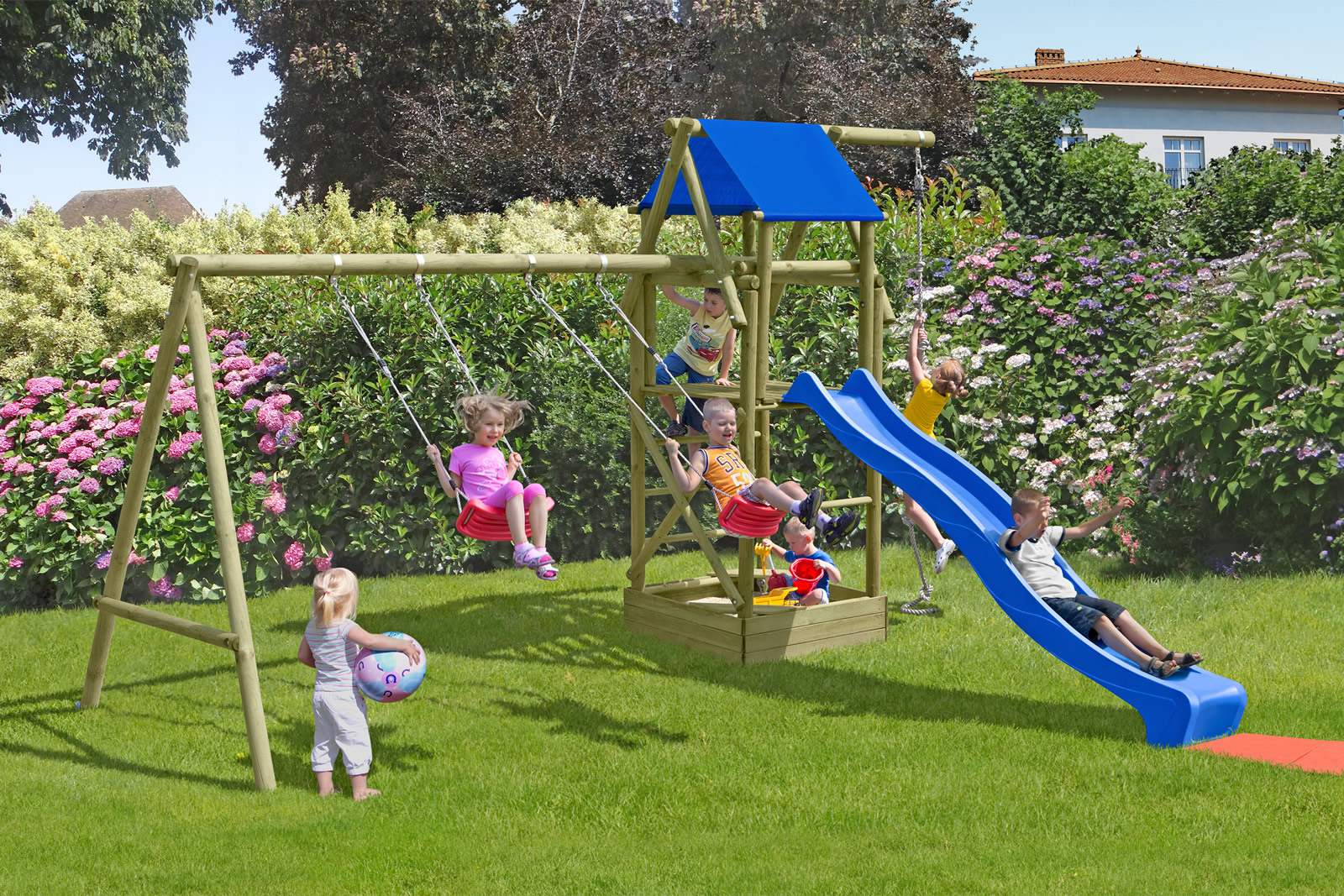 Delta Gartenholz Spielanlage Jannik