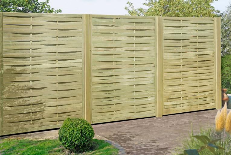Delta gartenholz lamellenzaun 180 x 180 cm for Sichtschutzzaun sina