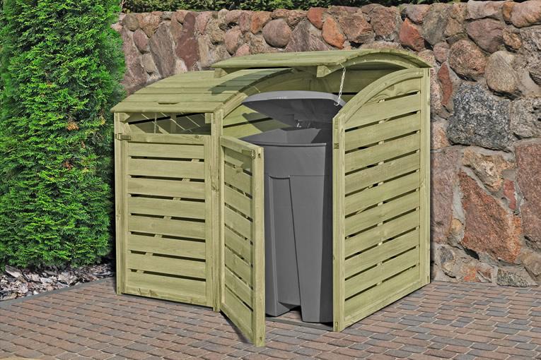 Mülltonnenabtrennung für  2 Tonnen