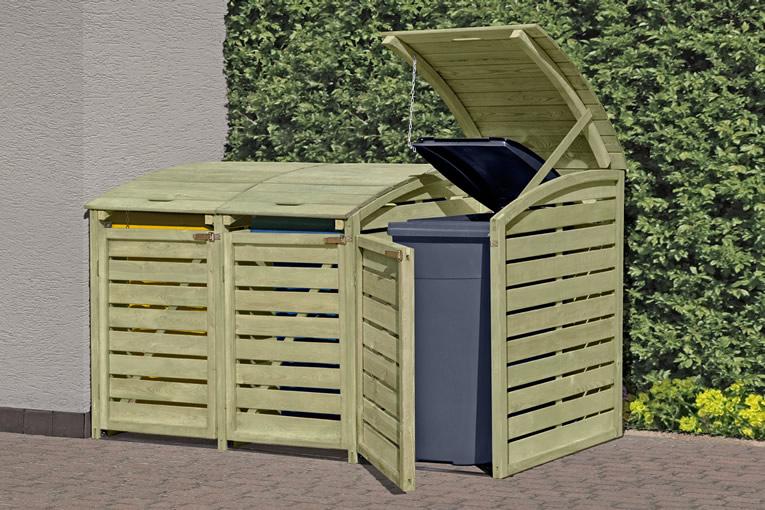 Mülltonnenabtrennung für  3 Tonnen