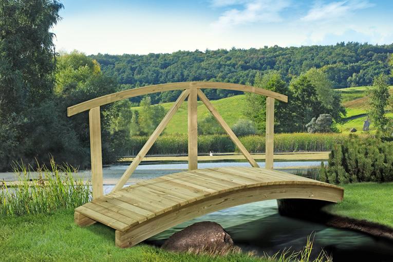 Gartenteichbrücke 80 x 250 cm