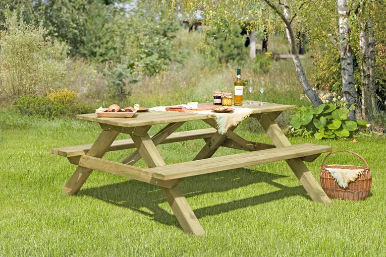 Picknicktisch 180 x 170 x 75 cm