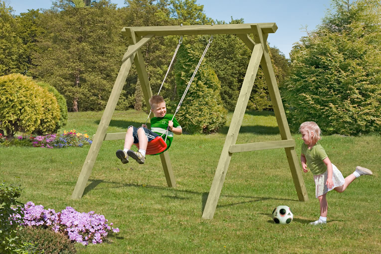 Как сделать качели ребенку из дерева 336